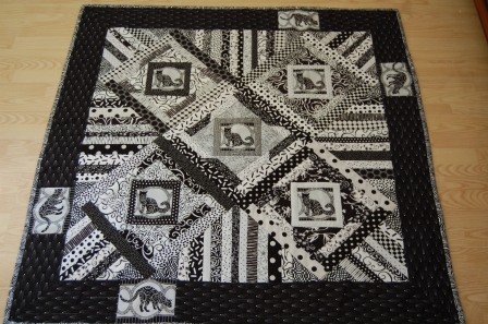 Black & White Cat Quilt