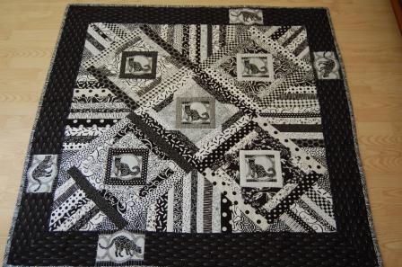 Black & White Cat Quilt