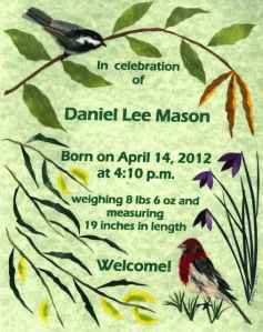 Sample Collage Birth Announcement
