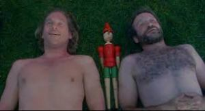 Jack and Parry, looking into the night sky.  From the Fisher King.